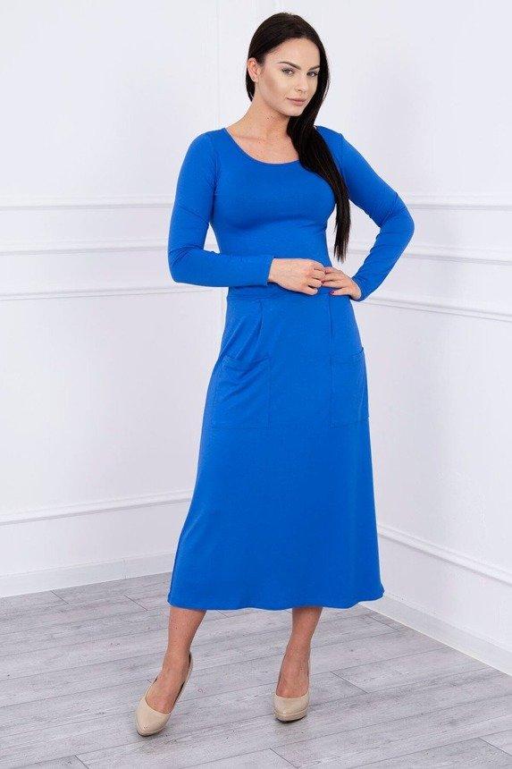 251f9b367e40 šaty s kruhovým výstrihom kráľovská modrá