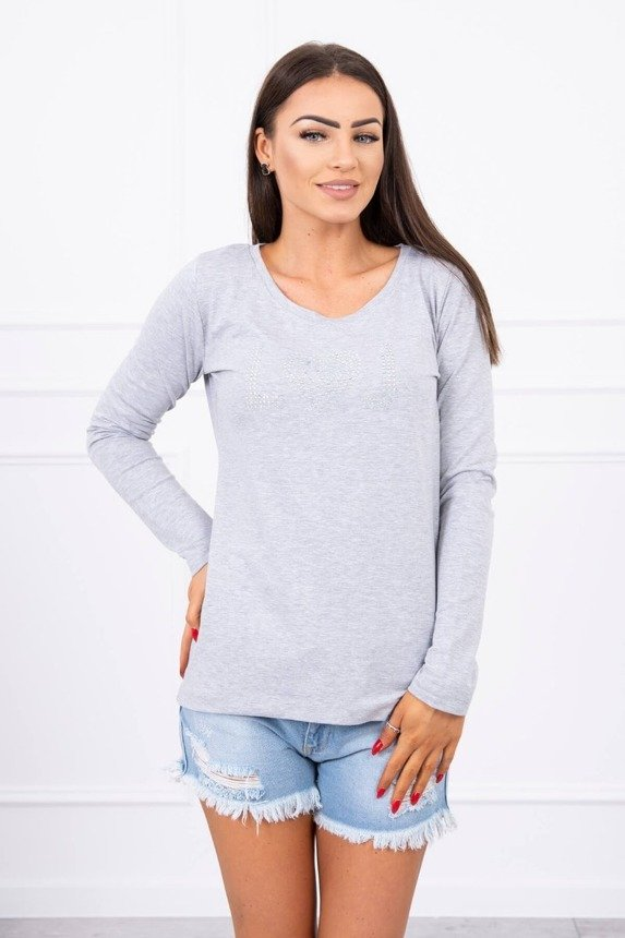 A blouse with heart gray