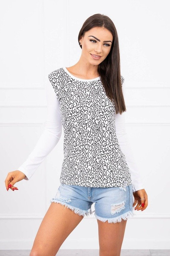 A blouse with imprinted white