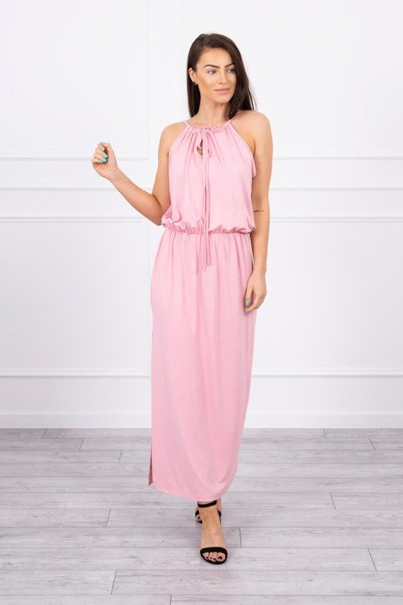 Boho dress with fly powdered pink