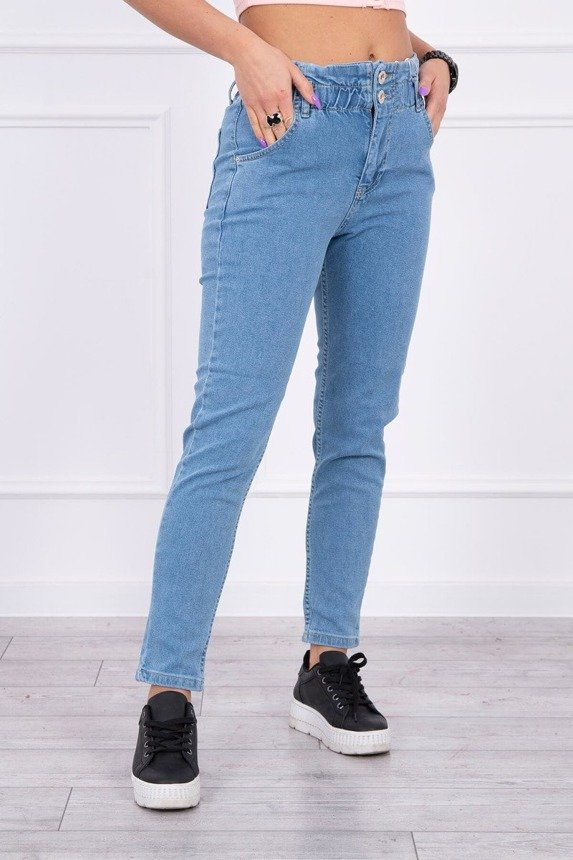Jeans with double clasp