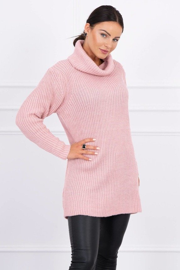 Sweater with golf powdered pink