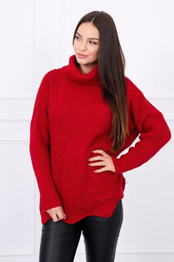 Sweater with wave burgundy