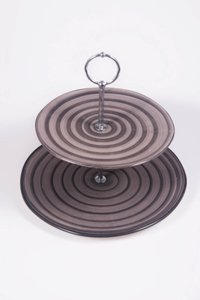 Double serving plate Spiral