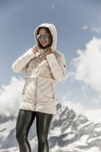 Down jacket 256 ecru