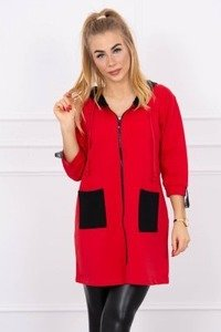 Hooded sweatshirt plus size red