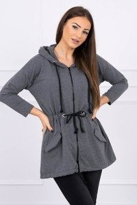 Sweatshirt tied at the waist graphite