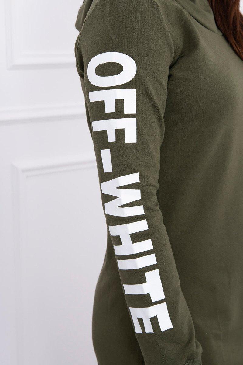 Dress Off White khaki ... ef844e2de76