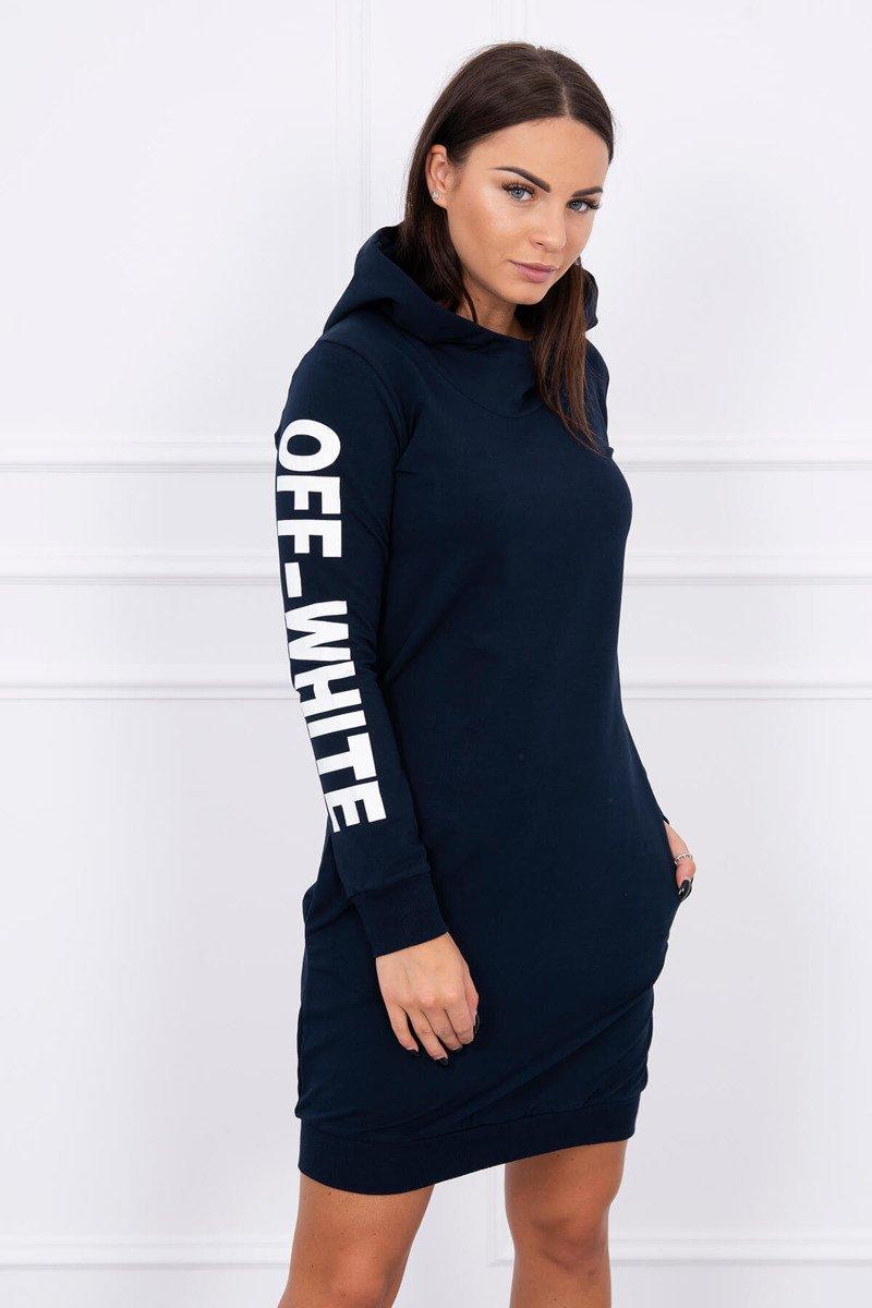 ... Dress Off White navy blue ... b9336a11101