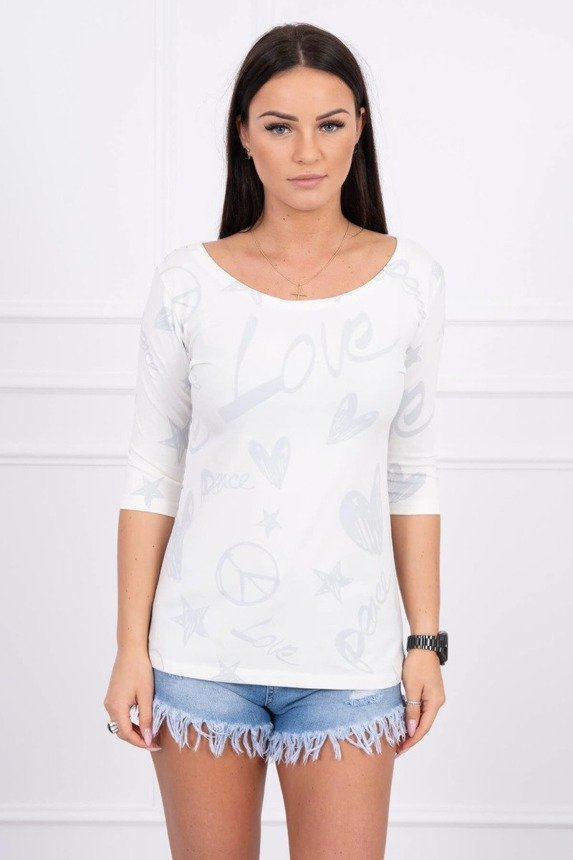 A blouse Peace-Love, ecru