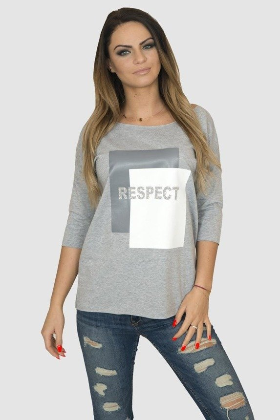 A blouse Respect, gray