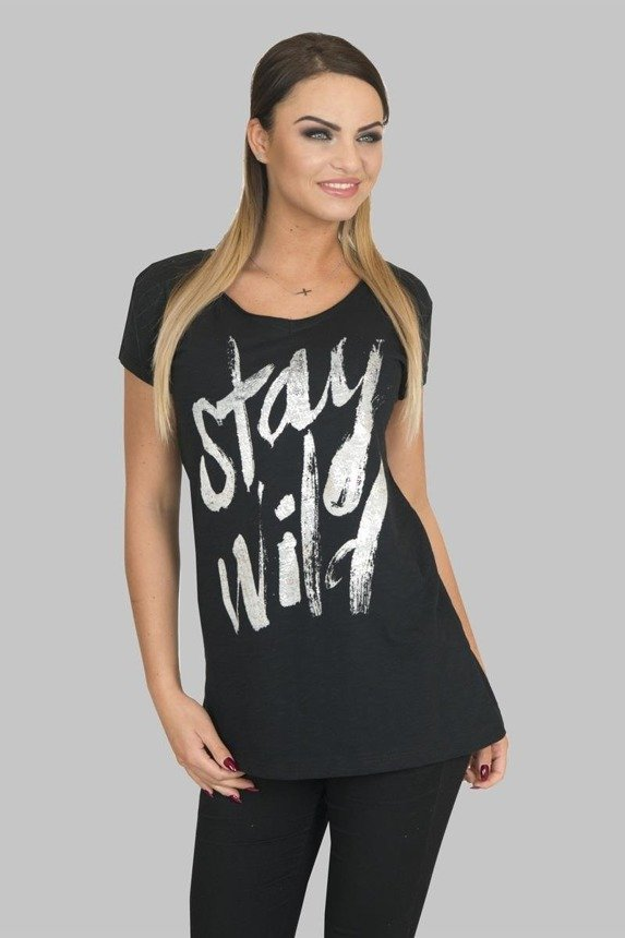 A blouse Stay Wild, black