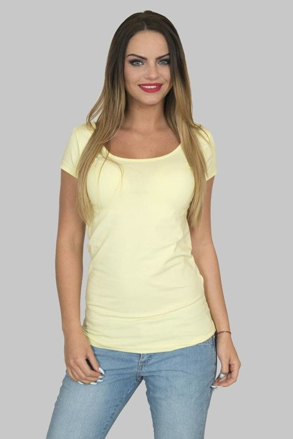 A blouse - a top, yellow