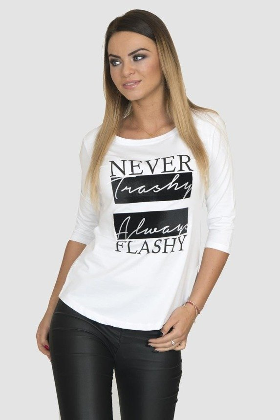 A blouse never-always, white