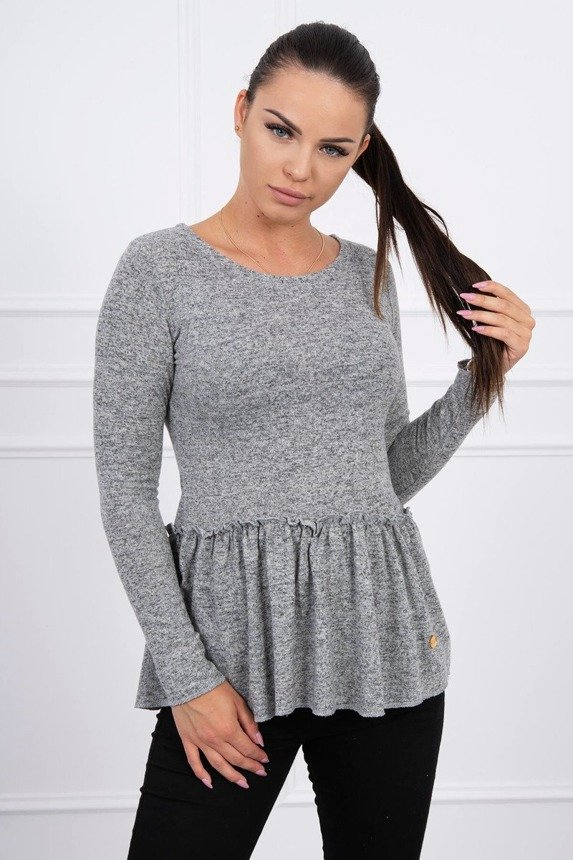 A blouse with a baskina gray