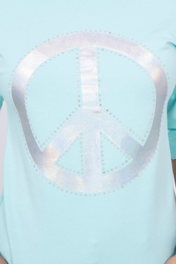 A blouse with a peace symbol, mint