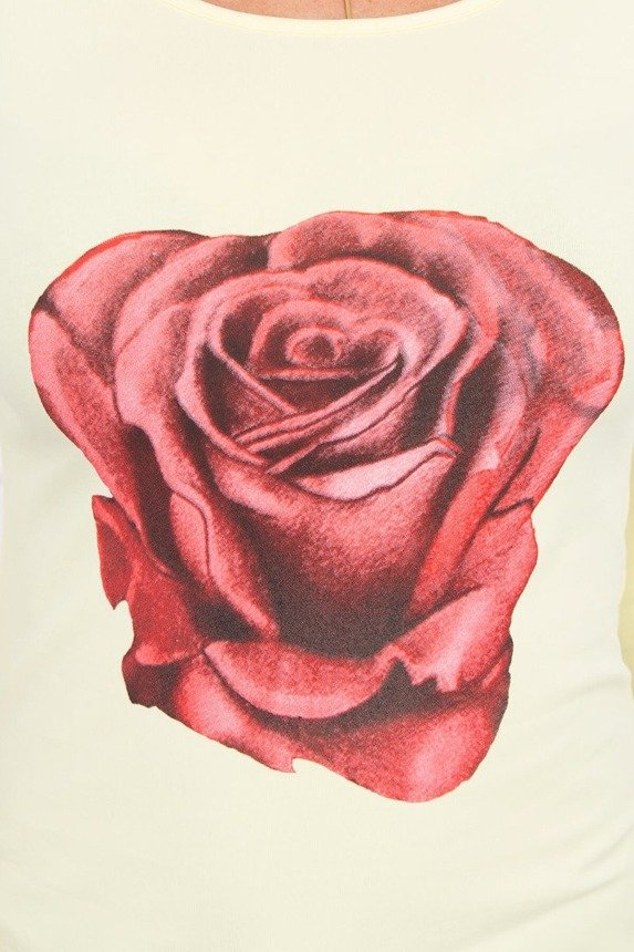 A blouse with a rose, lemon