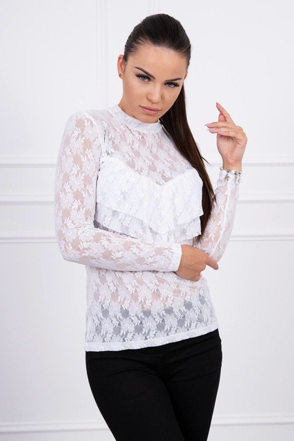 A blouse with lace white