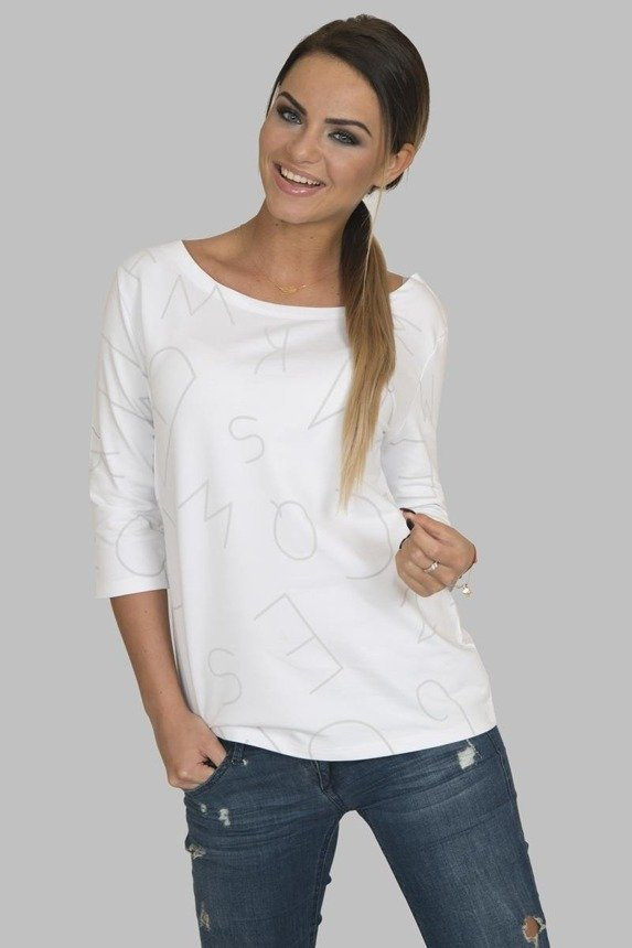 A blouse with letters, white
