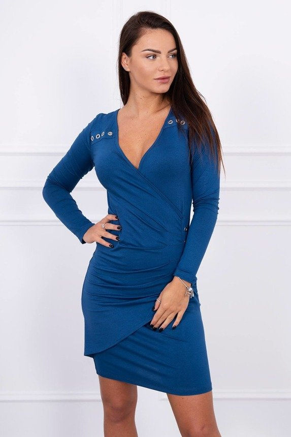 A dress with decorative applications, blue
