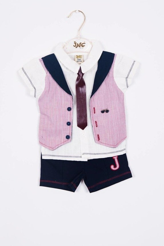 A set Vest and tie burgundy (3 pcs.)