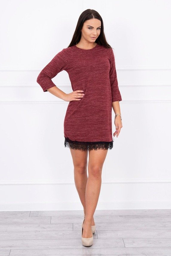 A tunic with lace burgundy