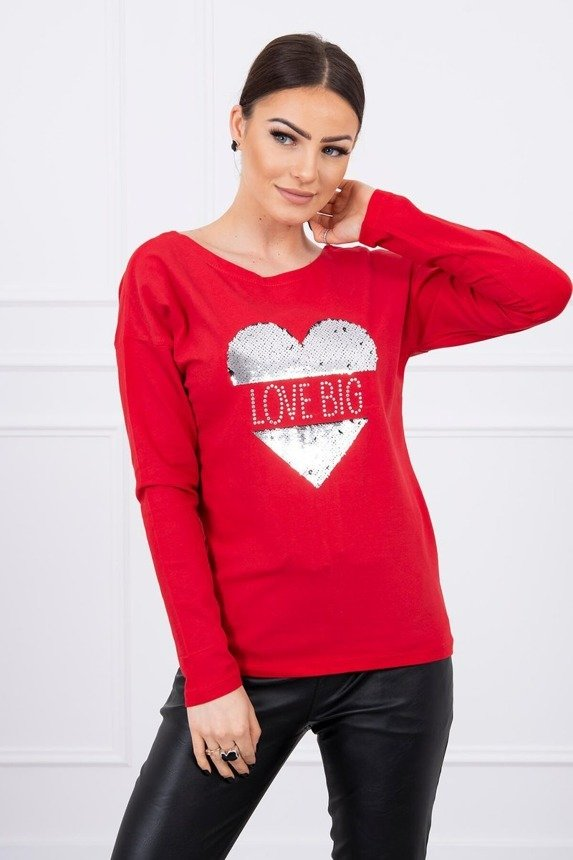 Blouse Big Love red