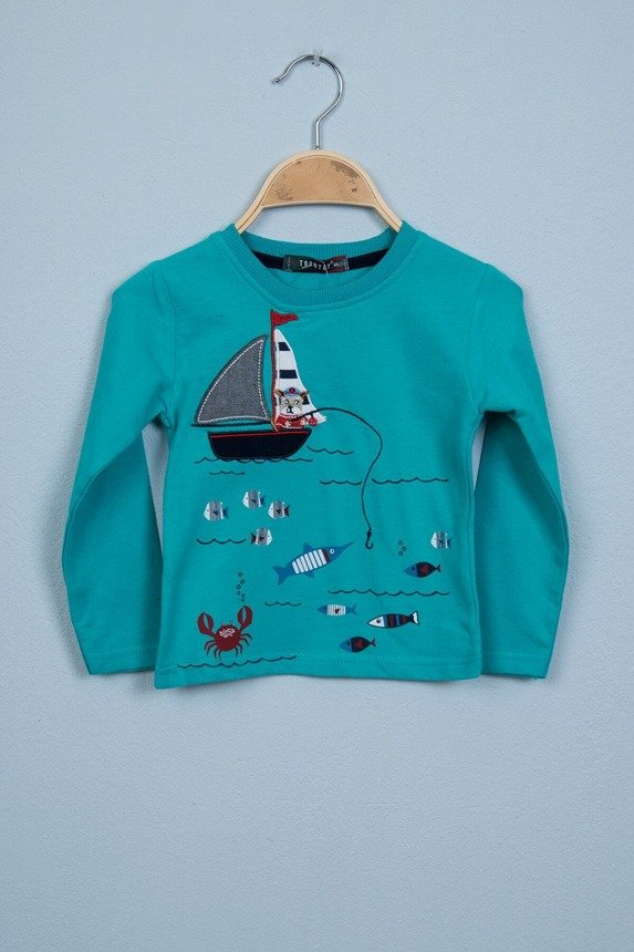 Blouse Fish mint (4 pcs.)