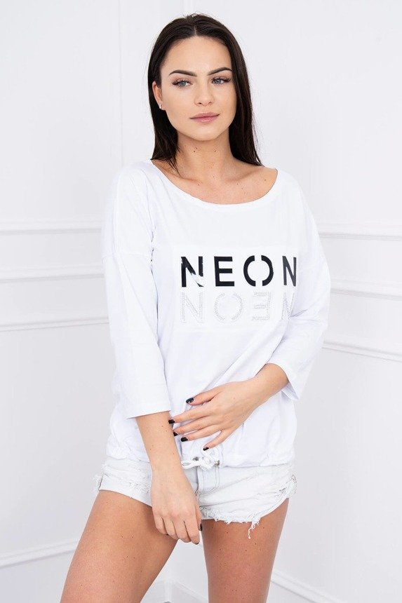 Blouse Neon white
