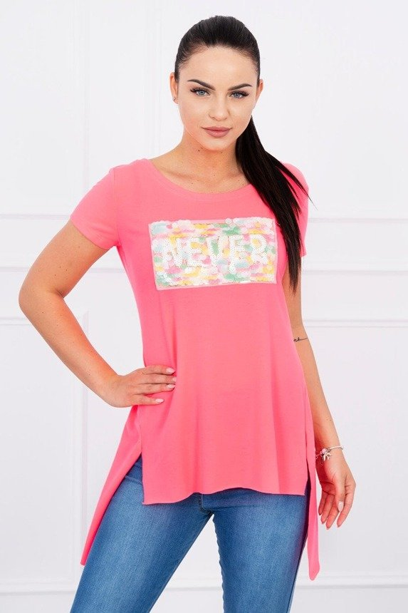 Blouse Never pink neon