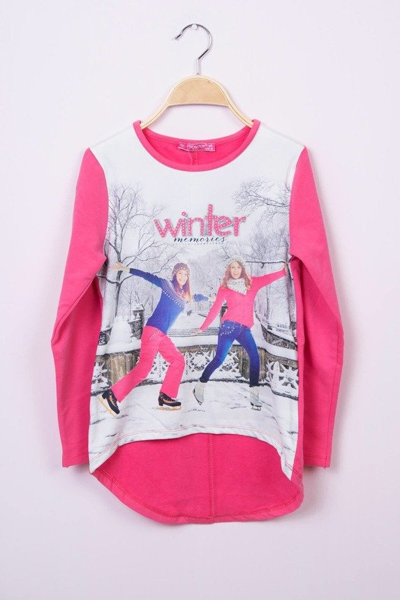 Blouse  Winter memories fuchsia (4 pcs.)
