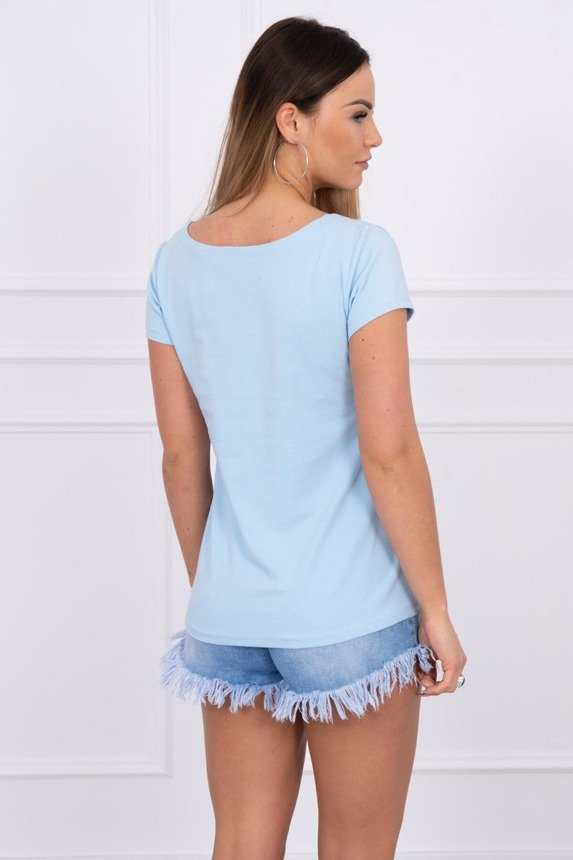 Blouse broken heart azure