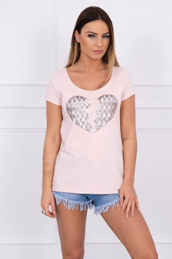 Blouse broken heart powdered pink
