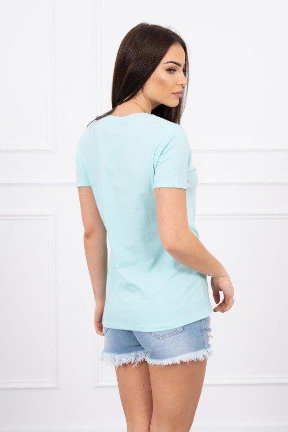 Blouse heart and mouth mint