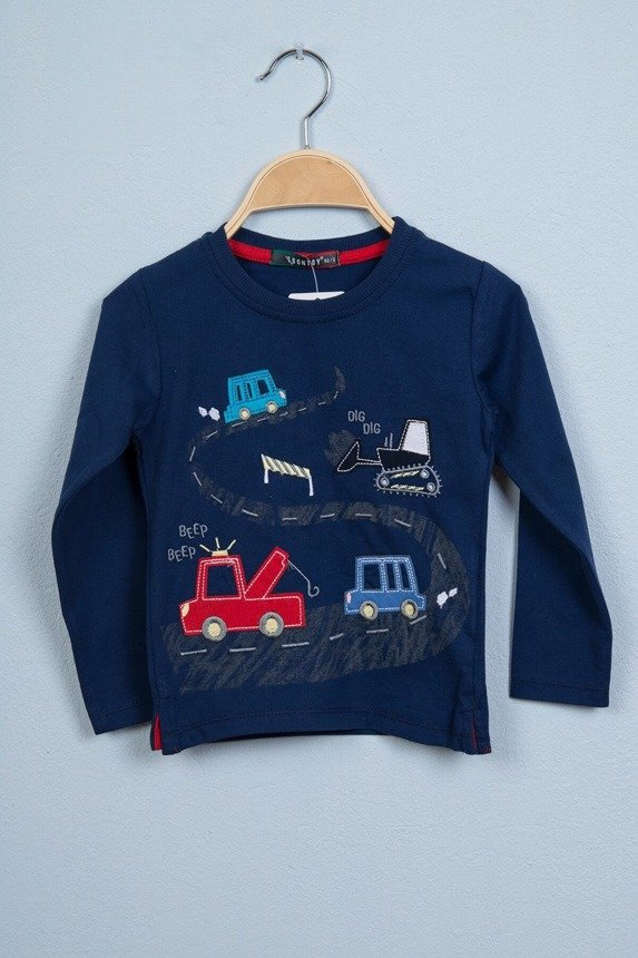 Blouse in cars navy blue (4 pcs.)