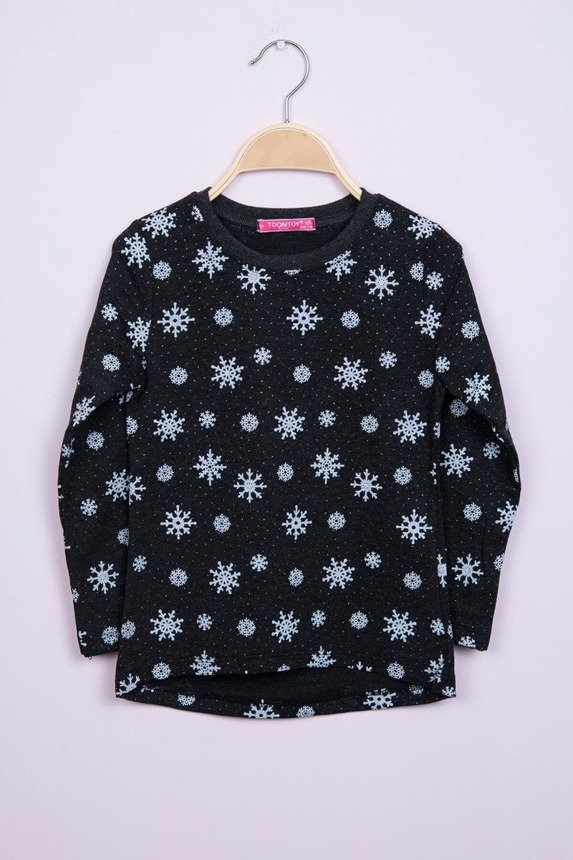 Blouse snowflakes black (4 pcs.)