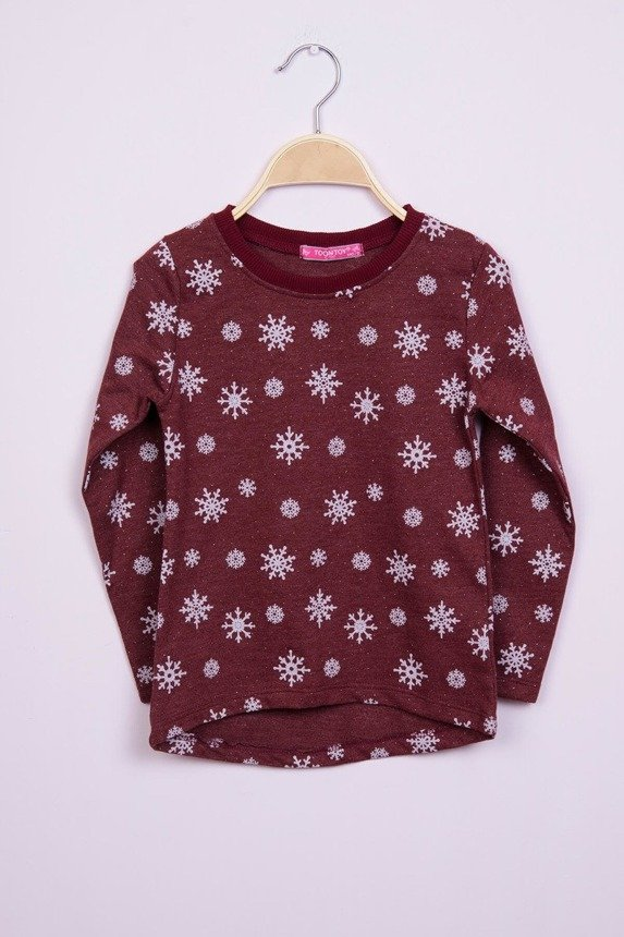Blouse snowflakes burgundy (4 pcs.)