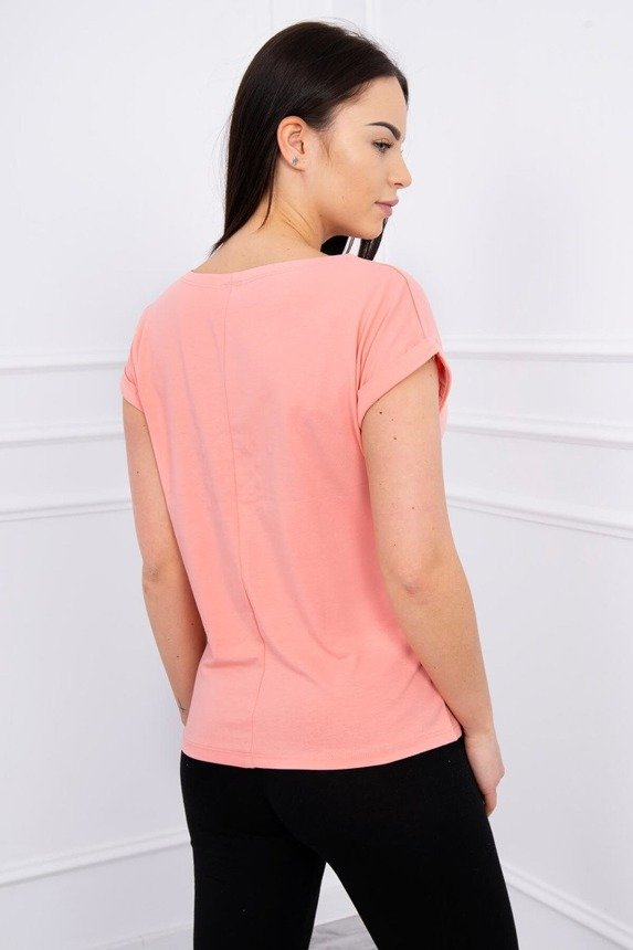 Blouse with apple apricot