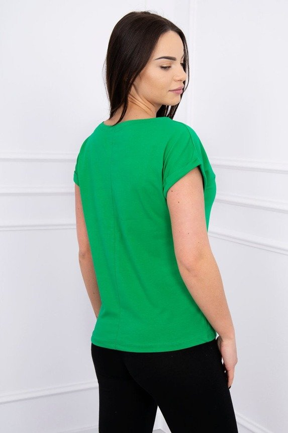 Blouse with apple green