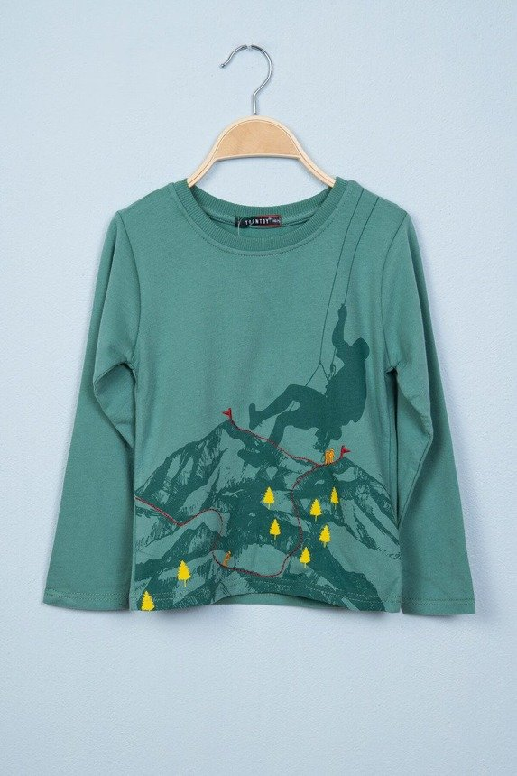 Blouse with mountain view green (4 pcs.)