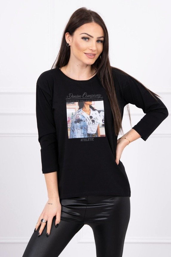 Blouse with print Collage black