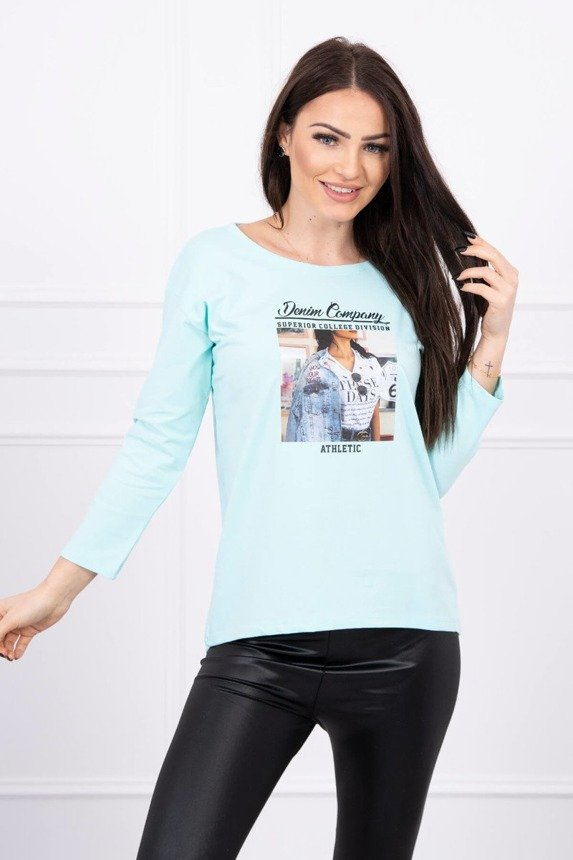 Blouse with print Collage mint