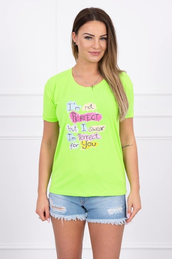 Blouse with print Perfect green neon
