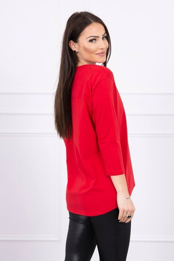Blouse with print Star Style red