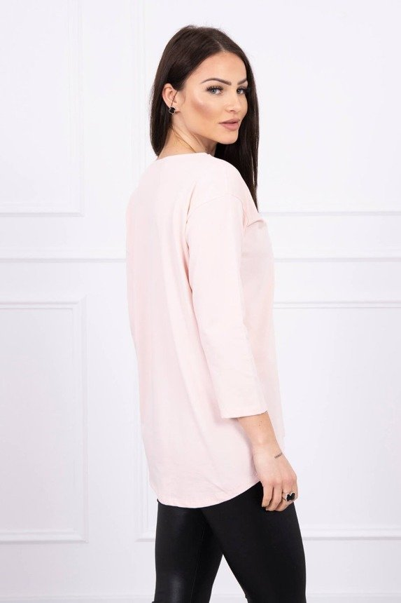 Blouse with print Summer car powdered pink