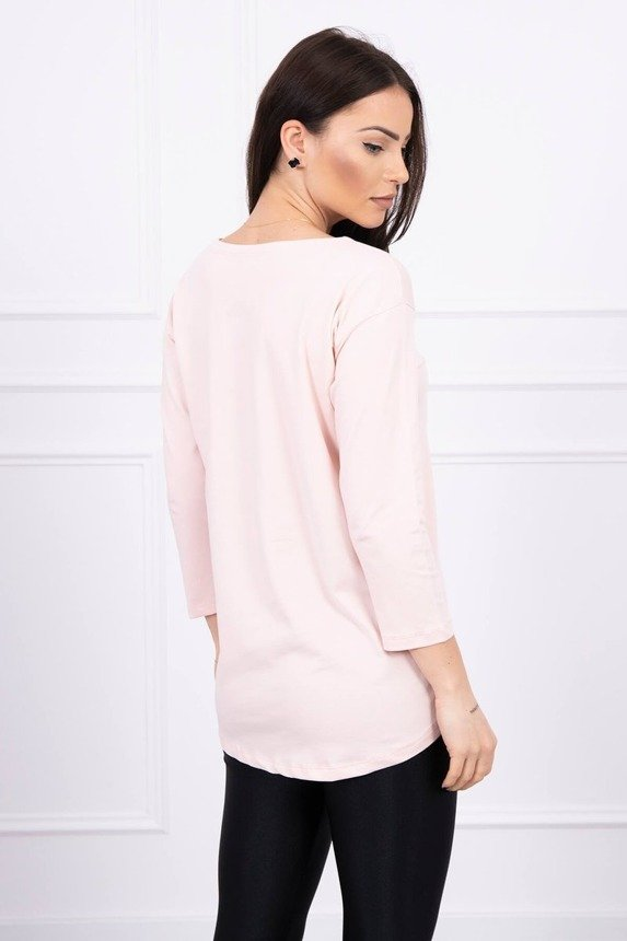 Blouse with print Tide powdered pink