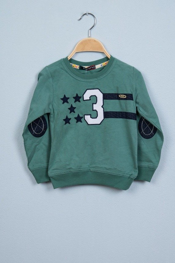Blouse with stars and a number green (4 pcs.)