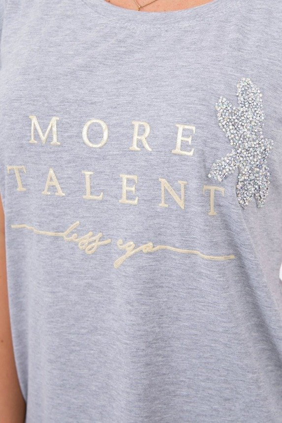 Blouse with the words More Talent gray