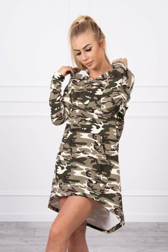 Camo dress khaki+ecru