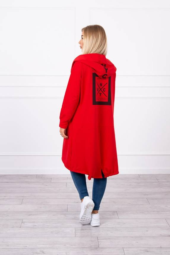 Cape with a hood oversize red